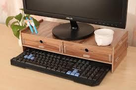 2 drawer monitor riser cabinet wooden diy computer desktop table