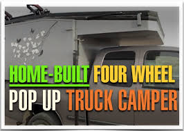 impressive homemade pop up truck camper on a toyota tundra