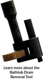 broken or stubborn bathtub drain removal tool