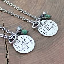 Quote Jewelry Cool Mother Daughter Necklace Set Mother's Day Gift Quote Necklace Set