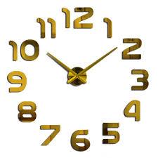 modern diy large 3d wall clock home decor