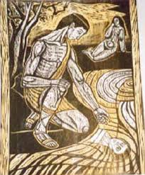 metamorphoses project narcissus woodcut by irving amen