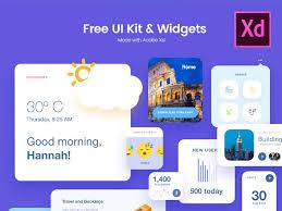 Free Ui Kit Widgets Xd Resources