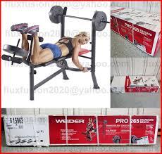 80lb weider pro bench press weight set