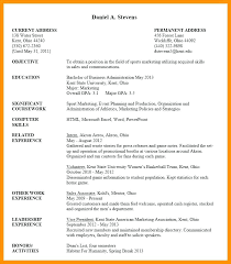 Current College Student Resume 10 College Student Resume For Internship Student Aid Services