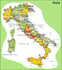italy tourist map