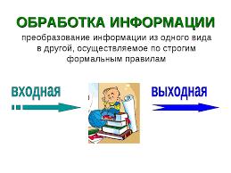 Презентация Информационная деятельность человека  слайда 11 ОБРАБОТКА ИНФОРМАЦИИ преобразование информации из одного вида в другой осуще