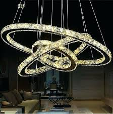 round crystal chandelier 3 circles led round crystal chandelier light modern pendant lamp creative design chandelier