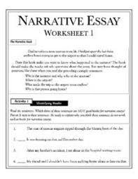 narritive essay narrative essay lesson plans worksheets lesson planet