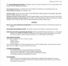 board of directors minutes of meeting template 2017 members meeting minutes lochverness property owners association