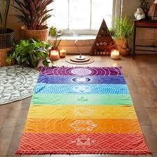 rainbow chakra tapestry yoga mandala