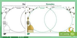 Pumpkin Venn Diagram Ramadan Venn Diagram Worksheet