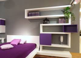 Shelves For Bedroom Walls Rectangle Grey Bed With Large Brown Wooden Headboard With Shelf