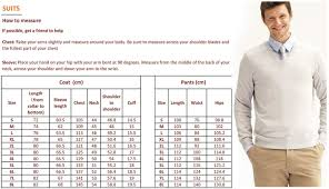 Measurements Mens Suits Chart 492kl764b Black And White Wedding Suits For Men In Blazers