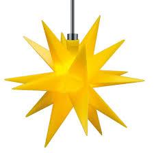 3d Led Stern Gelb ø 12 Cm Batterie Für Außen Innen Weihnachtsstern Ministern Kunststoff