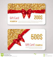 gift certificate christmas gift card design stock photo image merry christmas gift voucher certificate template design · gift card design gold glitter texture and red royalty stock photos