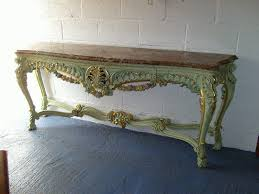 french console tables. Antique Hall Console Table - Large French Rococo Painted And Gilt Marble Top Tables
