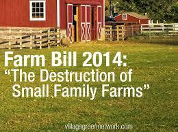 farm bill 2016 destruction of small farms