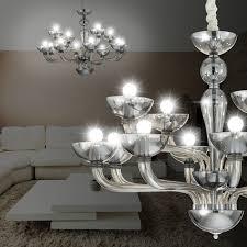 murano chandelier light Ø890mm classic grey glass lamp hand blown lamp