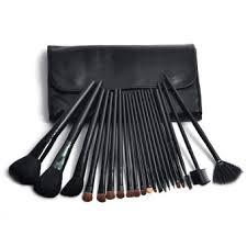 24pcs professional synthetic hair cosmetic makeup brush set kit brushes tools make up with case