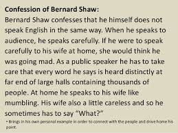 spoken english and broken english by g b shaw 8 confession of bernard shaw