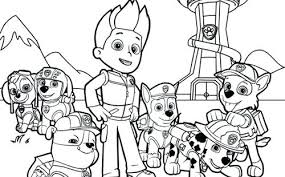Paw Patrol Printable Coloring Pages Find Here More Than Best Everest