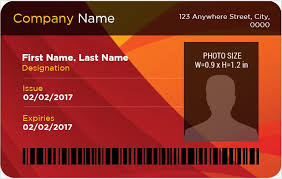 Company Id Card Template Ms Word Photo Id Badge Templates For All Professionals