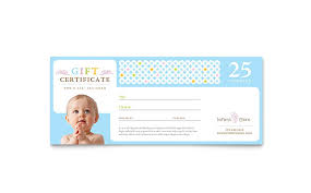 babysitting gift certificate template free infant care babysitting gift certificate template design