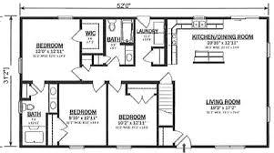 3 bedroom open floor house plans