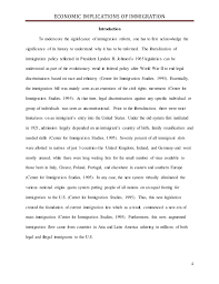 introduction for immigration in an essay american immigration essays