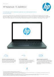 HP Notebook 15-da0065nt