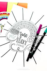 St.Patrick's Day Rainbow Coloring Page