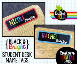 black bright student desk name tags student nameplates student name tags classroom