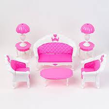 barbie dollhouse furniture sets. 6pcs pack dollhouse furniture living room parlour sofa chair set plastic for barbie 5 sets