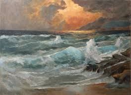 fine art paintings masters. Wonderful Fine Fine Art  Eventide Sea And Waves Original Oil Painting On Canvas By  Artist Darko And Paintings Masters P
