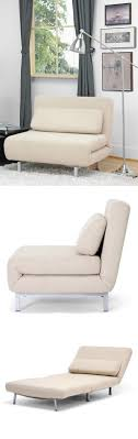 Comfy chair becomes a twin mattress sleeper in seconds ...