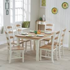 sandringham painted oak furniture dining table 150cm and 6 chairs set