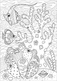 Butterflyfish Enjoying Coral Reef Coloring Page Free Printable