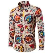 Ebay Asian Size Chart Details About New Fashion Patchwork Mens Casual Long Sleeve Cotton Slim Fit Shirt