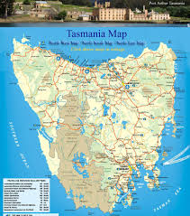 large tasmania maps for free download and print  highresolution