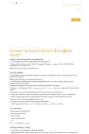 Creative Retail Jobs Senior Designer Retail Job At Adidas In Brooklyn Ny 15997368