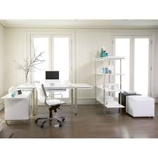 white home office desks. Office \u0026 Workspace. Luxury White Home Design Ideas Alongside Wood Paneled Interior Wall Cladding Desks