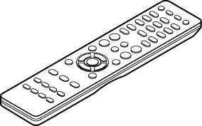 remote control drawing. remote control unit (rc-1192) drawing e