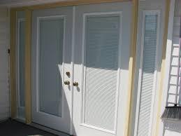 exterior door with blinds in window. double entry door w. 14\u2033 sidelights \u2013 hicksville, ohio exterior with blinds in window