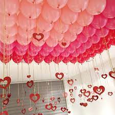 These can use to decor your. Look At Valentine S Day Balloon Decoration With Ribbons Birthday Balloon Decorations Birthday Party Decorations For Adults Balloon Decorations