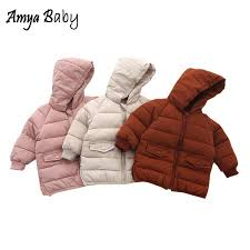 amyababy children winter coat warm baby girl jackets and coats infant boys outerwear jackets little girls