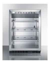 summit scr610blcss built in undercounter glass door beverage commercial refrigerator