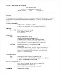 Newly Graduate Resume Sample Nursing Resume Examples New Grad Sample Professional Resume