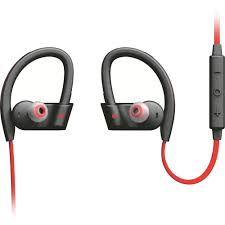 Zip Up Headphones Jabra Sport Pace Wireless Earbuds Red Black 100 97700001 02