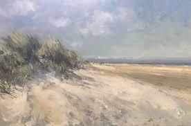 paul brown paintings on twitter dunes holkham beach summer pleinair oil painting norfolk north sand sea windy day 20 x30 canvas